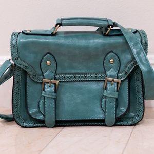 Turquoise Oxford Satchel